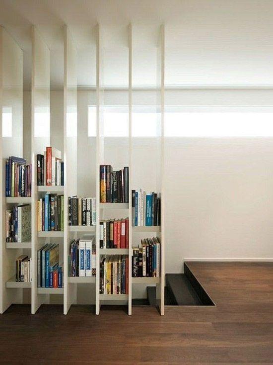 Idées de séparation de pièce à l'aide des bibliothèques